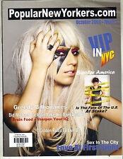 LADY GAGA Popularnewyorkers.com Magazine 10/09 RARE