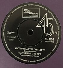 GLADYS KNIGHT & THE PIPS/AIN'T YOU GLAD YOU CHOOSE LOVE/SHORTY LONG-BABY-/-/NEW
