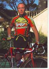 CYCLISME carte cycliste PAUL VAN HYFTE équipe LOTTO MOBISTAR 1998 signée