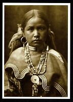 ⫸ 950 Postcard Jicarilla Maiden Apache Native American E Curtis 1904 Photo New
