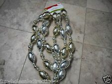 NEW ! Christmas Holiday Decoration 9 foot Garland Silver Color Party Time