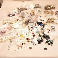 Vintage buttons snaps 2.2 lbs  sewing arts and crafts metal plastic mixed
