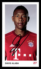 David Alaba Autogrammkarte Bayern München 2015-16 Original Sig+ C 2363