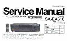 NATIONAL SA-EX310 AV CONTROL STEREO RECEIVER SERVICE MANUAL BOOK IN ENGLISH