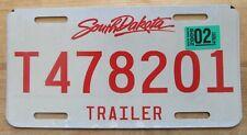 South Dakota 2009 TRAILER License Plate NICE QUALITY # T478201