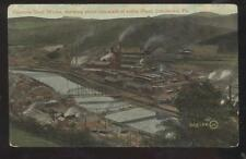 POSTCARD JOHNSTOWN PA CAMBRIA STEEL MILL FACTORY PLANT BIRD'S EYE AERIAL 1907