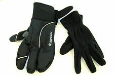 PLANET BIKE BOREALIS WINTER CYCLING GLOVES IN BLACK/GRAY, SIZE SMALL
