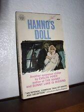 Hanno's Doll by Evelyn Piper (Crest #K742,1'st Prt. August 1964,Paperback)
