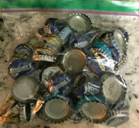 105 Beer Bottle Caps Mixed Lot of Blue #3 Bud Light Blue Moon Kona Red Hook