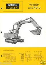 ▬►Prospectus de 1970  RICHIER TRACTO PELLE  DEMAG H 21 C  Prospect No Poclain