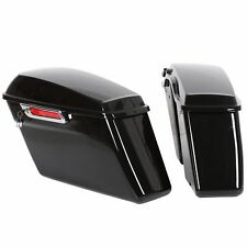 Black Hard Saddle Bags Trunk W/ Latch keys For Harley Touring Models 2014-2018
