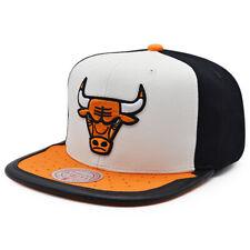 Chicago Bulls Mitchell & Ness JORDAN DAY ONE Snapback NBA Hat -White/Orange/Blk