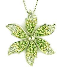 Sparkly Swarovski crystal flower pendant - Sterling Silver PDT240020