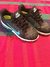 Nike Air Max Sequent 2 Running Shoe Black Dark Grey blue US SIZE: 7.5 WORN ONCE