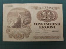 More details for estonia 1929, 50 krooni collectable banknote. fine