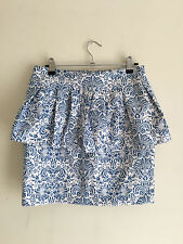 Valleygirl womens peplum skirt blue and white size SMALL