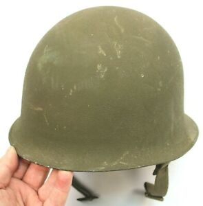 FRENCH ARMY M51 STEEL HELMET + PLASTIC INNER DATED 1953 (NO2)