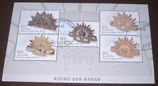 Australia 2012 Rising Sun Badge mini-sheet, cancelled, original glue, as new