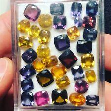 Natural 38.60 Carats Mixed Gem Lot Garnet Spinel Zircon Tourmaline 35 Pieces