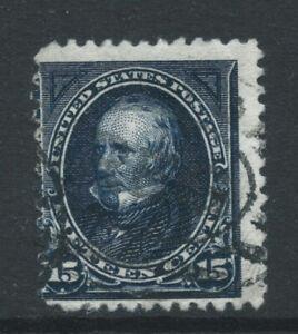 USA 1894 SG216115c indigo no wmk triangles used possible thin off-centre Cat £80