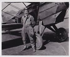 Pilot Aviator JIMMY DOOLITTLE with Airplane ICONIC Classic 1940s press photo