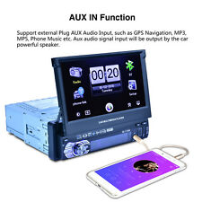 """7"""" HD Car Bluetooth MP3 MP5 Player Rearview Radio FM AUX USB 7 Colors Backlight"""