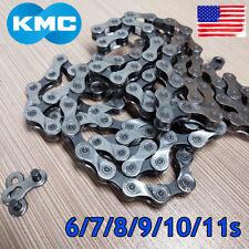 """KMC 6/7/8/9/10/11S 116/118 Links Chain 1/2X3/32"""" 11/128"""" MTB Road Bike Cassette"""