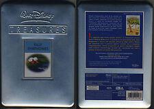 W.Disney SILLY SYMPHONIES (1929-1939) Metal Box da collezione + LOCANDINA CARD