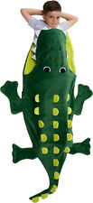 Silver Lilly Plush Crocodile Animal Tail Novelty Sleeping Bag Blanket for Kids