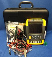 FLUKE 190-204 4Ch. 200MHz 2.5GS/s Color ScopeMeter Portable Oscilloscope