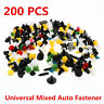 200pcs Various Car Plastic Rivet Auto Fasteners Push Pin Bumper Fender Panel Hot