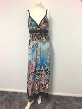 Long multi coloured maxi dress Approx size 10 Womens