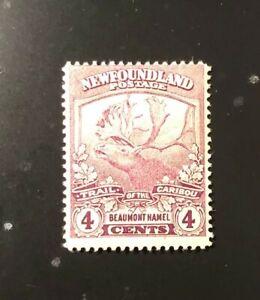 Stamps Canada Newfoundland Sc118 4c violet Caribou see detail.