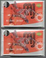 x2 Box lot MICHAEL JORDAN 1998-99 Upper Deck Europe Sticker Boxes 1200 MJ's PSA?