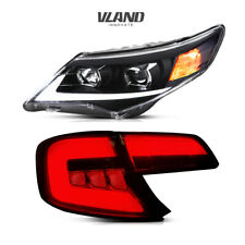 2 x Headlights & 2 xTail Lights Smoked For Toyota Camry 2012-2014 Assembly