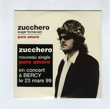 CD SINGLE (NEW) ZUCCHERO PURO AMORE /LET THE GOOD TIMES ROLL