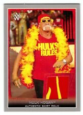 2015 TOPPS WWE ROAD TO WRESTLEMANIA HULK HOGAN SHIRT RELIC SILVER #13/25