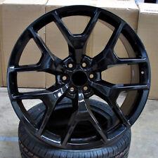 20x9 6x139.7 ET31 Gloss Black WHEELS Set of 4 Rims fit Chevy GMC