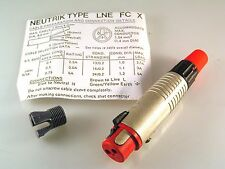 Neutrik Type LNE FC X Locking 3 Way Cable Connector 250Vac 5A MBH007d