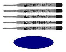 5 - MONTEVERDE Ballpoint Parker Style Pen Refill - EXTRA FINE - BLUE-BLACK