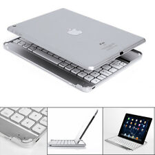 """New For iPad 9.7"""" 2017 Aluminum Wireless Bluetooth Keyboard Case Stand - Silver"""