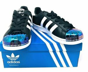 New Adidas Originals MT W Superstar Black Iridescent Metal Womens Shoe Size 7.5