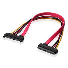 7+15 22 pin Daten Strom Kabel S-ATA SATA Combo-Verlängerungs Adapter 30 cm