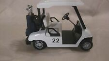 Golf Club Golf Cart In A White Small Scale Diecast & Plastic From Kins Fun dc757