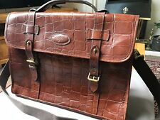 Mulberry Briefcase, Classic Brown Congo Leather, Good Condition