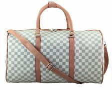 Large DESIGNER Inspired Holdall Weekend Luggage Duffel Cabin Travel Case Bag BL