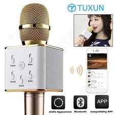 Q7 Home KTV Karaoke Lettore Microfono Altoparlante Bluetooth per PC TEL TABLET GOLD