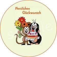 Der kleine Maulwurf Eßbar Tortenaufleger Tortenbild Party Deko neu dvd Karte