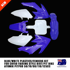 BLUE CRF50 PLASTICS/FAIRING KIT DIRT/BIKE FOR THUMPSTAR/ATOMIK 50/70/90/110/125C