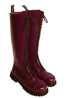30-Loch Ranger Boots Kampfstiefel Springer Stiefel Rangers Bordeaux Rot Weinrot